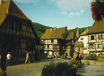 Typical village in Alsace